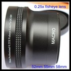 52mm 0.25x fisheye lens with macro lens for Canon EOS M 18-55MM