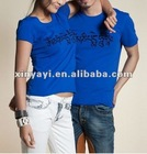 lover suits t-shirts with flocking printing