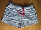 girls 100%cotton glue printing knit sleep shorts