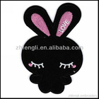 lovely embroidery badges rabbit patch