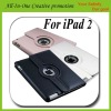 For iPad 2 360 Rotating Magnetic Leather Case Smart Cover Swivel Stand Black