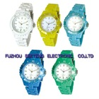 Colorful fashion promotional silicone watch for teenagers