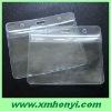 clear plastic pvc ziplock id name badge holder
