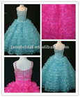 Hot sale real sample ball gown tulle flower girl dress