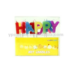 Happy Birthday Letter Candle in English