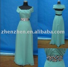New arrival elegant ZZ-01 zhenzhen chiffon beaded evening dress