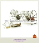 Oval glass jar spice rack sets
