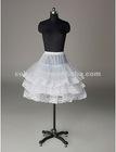 Nylon Half A-Line 3 Tier Short-Length Lace Slip Style/ Wedding Petticoats