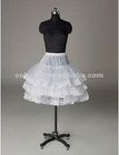Nylon Half A-Line 3 Tier Short-Length Lace Slip Style/ Wedding Petticoats