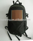 Solar charging backpack with new flexible solar panel