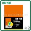 maufacturer A4 100 sheets bright color copy paper 80gsm, Blue