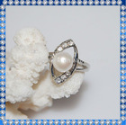 2012 fashion lastest pearl ring design