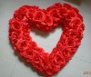 2012 Hot sell Artificial rose heart for wedding decoration
