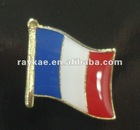 France flag pin,16mm metal world country flag lapel pin
