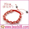10mm Colors Meaning Shamballa Bracelet With Crystal Ball BD-016