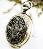 fashion wholesale Antique brass bronze pocket watch chain charm pendant watch necklace nickel free lead free