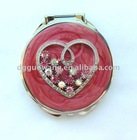Round travel gift Metal cosmetic mirror CM11013