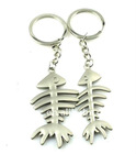 fashion alloy rhodium plated fish shape keychain(K100054)