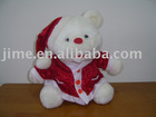 JM7050 Christmas toy Wear Christmas cap bear