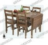 wooden extension dining table