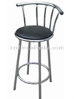 Metal legs modern design rotatable luxury bar counter and bar stools