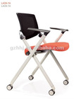 New design fabric folding chairs with castors