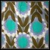 Sun Flower Print on Linen Cotton Fabric