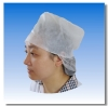 Non woven cap with snood