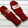 Kids knitted hand gloves with patterns