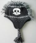 knitted skull mohawk hats