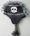 knitted skull mohawk hats