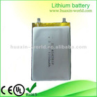 1250mAh chargeable lithium ion battery for DVD player