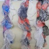 Fashionable Silk Scarf / Long Colorful Scarf