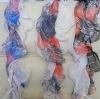 Fashionable Silk Scarf / Long Colorful Scarf