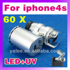 Mini 60X Microscope for iphone5/5g O-886