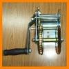 Hand winch with brake