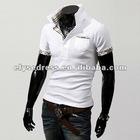 2012 Fashion Mens Casual Slim Fit Polo T-shirts Tee Shirt White