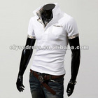 2012 Fashion Mens Casual Slim Fit Polo T-shirts Tee Shirt White