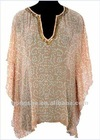 2012 Georgette Ladies Silk Kaftans with Beadwork Hss-157
