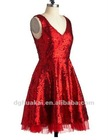 women solid color sequin clothing wholesale classic style for party red sleeveless dresses clothing fashion