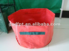 PE grow bag with woven belt