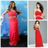 Fashional One Shoulder Red Celebrity Evening Dresses