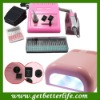 Pink 278 Nail Drill Machine Manicure and Nail Dryers UV Gel Lamp Kit 12V - Pink 278+UV lamp