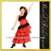 Hot Sale Long Satin Ruffled Noble Lace Spanish Dresses For Girls