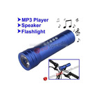 3 in 1 Multifunctional Music Bicycle LED Flashlight (MP3 Player + Speaker + Flashlight)-Blue