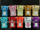 animal shape silicone phone cover with custom logos