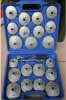 23pcs aluminium cap type oil filter wrench