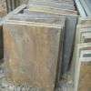 rusty color floor slate tile