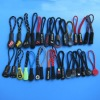 Customized plastic zipper puller with cord