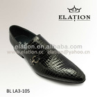 Full embossed leather dress shoes for men